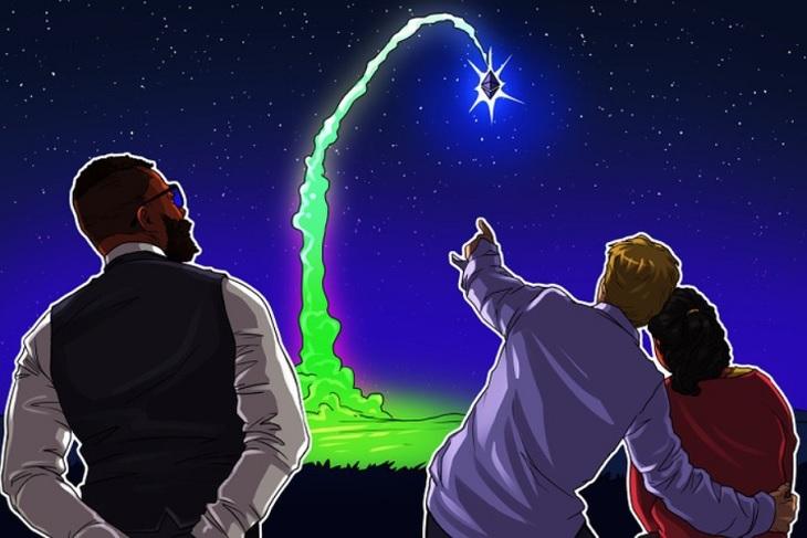 """Ether tăng vọt """"to-the-moon"""", mức cao nhất lịch sử."""