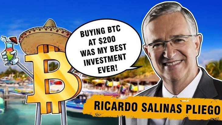 The 3rd richest billionaire in Mexico changed his biography to Bitcoin